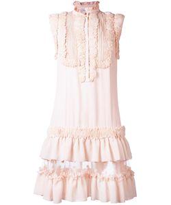 Zuhair Murad | Ruffled Dress Womens Size 38 Acetate/Silk/Polyester