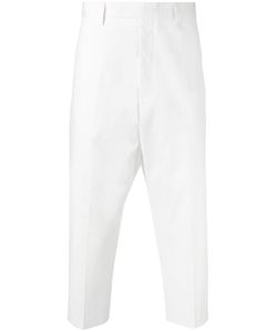 Rick Owens   Astaire Cropped Trousers Mens Size 48 Cotton/Rubber/Cupro