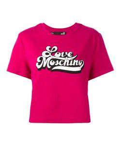 Love Moschino   Short-Sleeve T-Shirt With Logo Branding Womens Size Xxs