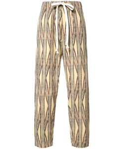 Uma Wang | Striped Cropped Trousers Mens Size Large Cotton