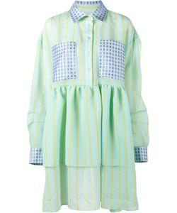 Natasha Zinko   Stripe Jacquard Dress Womens Size 44 Polyester/Polyamide