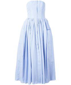 Natasha Zinko   Pleated Trim Dress Womens Size 40 Cotton/Polyester
