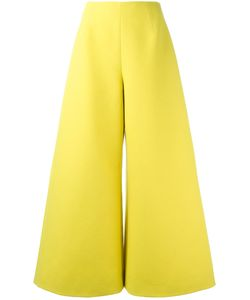 Delpozo | Wide Leg Cropped Trousers Womens Size 36 Cotton/Viscose