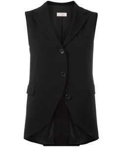 Alberto Biani | Lapelled Waistcoat Womens Size 40 Acetate/Viscose/Triacetate/Polyester