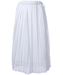 Muveil   Pleated Midi Skirt Womens Size 38 Polyester