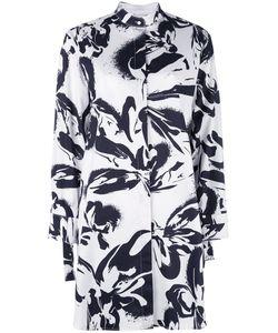 Cédric Charlier | Print Shirt Dress Womens Size 42 Cotton/Other