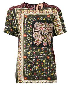 No21   Embroide Detail T-Shirt Womens Size 38 Silk
