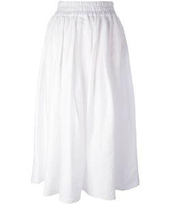 Aspesi   Pleated Skirt Womens Size 42 Linen/Flax