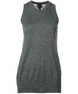 Vera Wang | Lace Back Tank Top Womens Size Medium Silk/Nylon/Wool