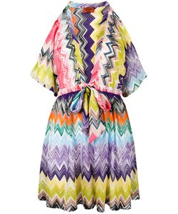Missoni | Cut-Off Sleeve Drawstring Dress Womens Size 42 Viscose