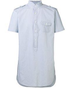 Lardini | High Frayed Neck Shirt Mens Size Small Cotton