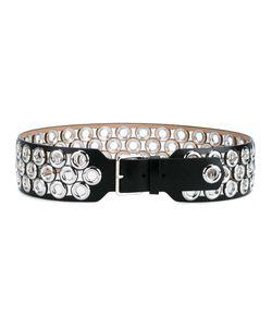 Alaïa | Wide Eyelet Belt Womens Size 80 Leather/Metal