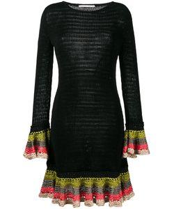 Marco de Vincenzo | Knitted Ruffle Cuff Dress Womens Size 40