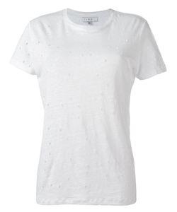 Iro | Ripped Trim Top Womens Size Small Linen/Flax