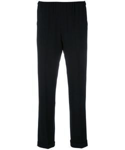 Alberto Biani | Drawstring Cropped Trousers Womens Size 44 Triacetate/Viscose/Acetate/Polyester