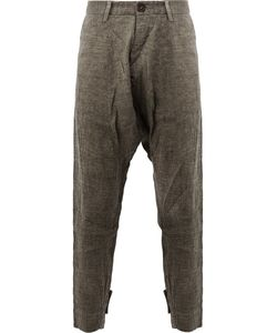Ziggy Chen | Striped Drop-Crotch Trousers Size 48 Cotton/Hemp/Linen/Flax