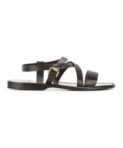 Silvano Sassetti   Multi-Strap Sandals Mens Size 9 Calf Leather/Leather