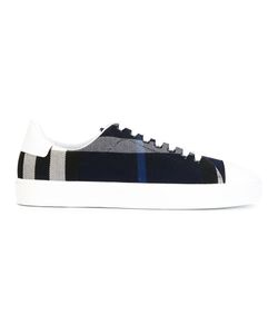Burberry   Lace-Up Classic Plimsoll Womens Size 37 Cotton/Leather/Rubber