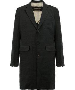 Uma Wang | Notched Lapel Single-Breast Coat Mens Size Small Cotton/Linen/Flax/Viscose