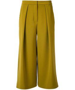 Roksanda | Cropped Palazzo Pants Womens Size 10 Polyester/Spandex/Elastane/Viscose/Cotton