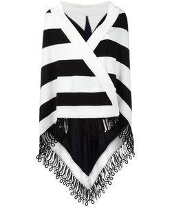 Antonia Zander | Striped Cape Womens Cotton/Polypropylene/Cashmere