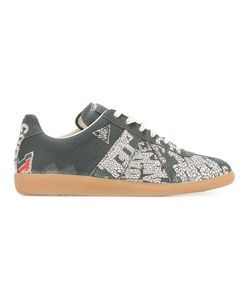 Maison Margiela | Printed Sneakers Mens Size 44 Leather/Cotton/Rubber