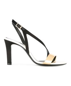 Lanvin | Cross Strap Sandals Womens Size 38 Calf Leather/Goat Skin/Leather/Viscose