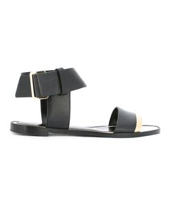 Lanvin | Buckled Ankle Sandals Womens Size 37 Calf Leather/Leather