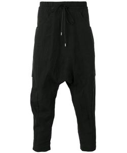 The Viridi-Anne | Drop-Crotch Cropped Trousers Mens Size 3 Linen/Flax