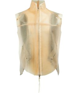 Cedric Jacquemyn   Zipped Waistcoat Size 50 Lamb Skin