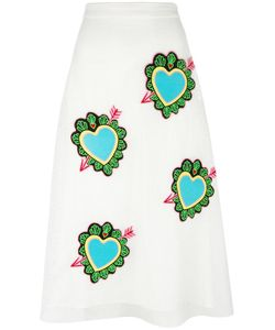 House Of Holland | Heart Midi Skirt Womens Size 14 Polyester
