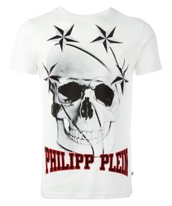 Philipp Plein | Skull Printed T-Shirt Mens Size Xl Cotton/Polyurethane/Crystal