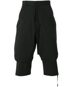 D.Gnak   Tape Detail Layer Shorts Mens Size 30 Cotton/Polyurethane