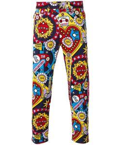 Love Moschino   Graphic Print Jeans Mens Size 34 Cotton/Spandex/Elastane