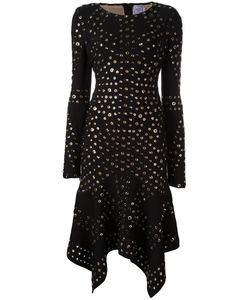 Hervé Léger | Eyelet Handkerchief Dress Womens Size Medium Rayon/Nylon/Spandex/Elastane/Metal Other