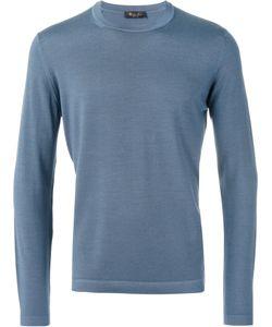 Loro Piana | Plain Sweatshirt Mens Size 52 Silk/Virgin Wool