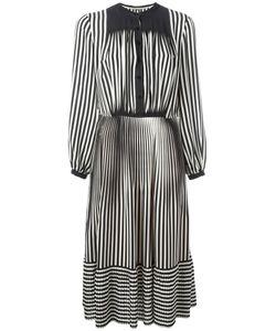 Marco de Vincenzo | Striped Fla Dress Womens Size 42 Silk