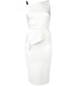Roland Mouret | Asymmetric Dress Womens Size 12 Acetate/Viscose/Polyurethane/Silk