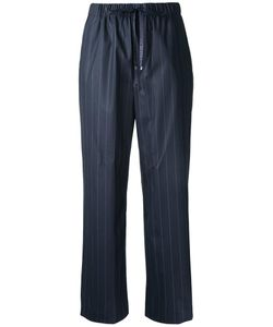 Astraet | Drawstring Waistband Pinstripe Trousers Womens Size 00 Cotton