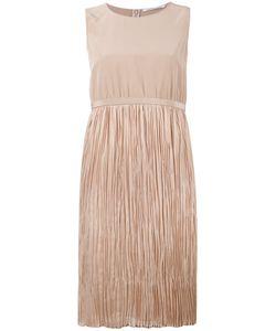 Agnona | Pleated Dress Womens Size 44 Silk/Cupro