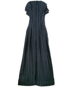 Jacquemus   Striped Jumpsuit Womens Size 36 Linen/Flax