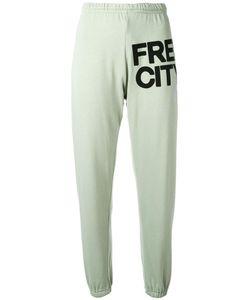 Freecity | Logo Print Track Pants Womens Size Medium Cotton