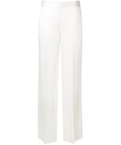 Victoria Beckham | Wide-Leg Trousers Womens Size 10 Cotton/Silk