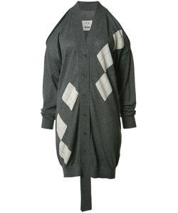 Uma Wang | Cut-Off Midi Cardigan Womens Size Medium Cashmere