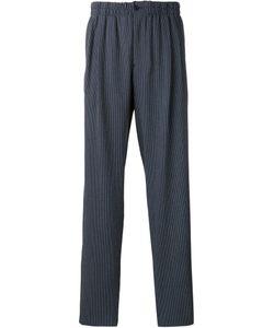 Giorgio Armani | Striped Drop-Crotch Trousers Mens Size 50 Cotton/Virgin Wool/Spandex/Elastane