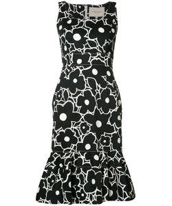 Carolina Herrera   Trumpet Dress Womens Size 14 Polyester/Acetate/Cotton/Spandex/Elastane