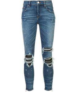 Amiri | Ripped Super Skinny Jeans Size 26 Cotton/Spandex/Elastane/Leather