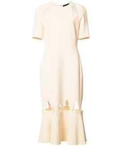David Koma | Hem Cut Out Dress Womens Size 12 Acetate/Spandex/Elastane/Viscose