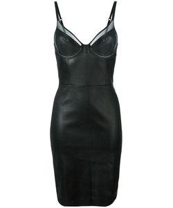 Jitrois | Sheer Trim Bra Bodycon Dress Womens Size 38 Lamb