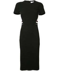 Victoria Beckham | Striped Detail Fitted Dress Womens Size 6 Polyester/Silk/Wool
